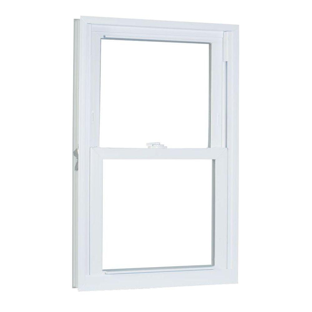 American Craftsman 35.75 in. x 53.25 in. 70 Series Double Hung Buck Vinyl Window - White