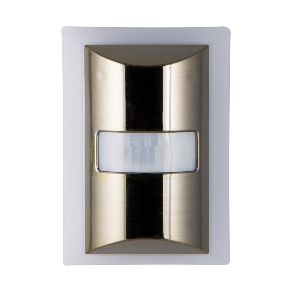 Motion Boost Light Sensing LED Brushed Nickel Night Light