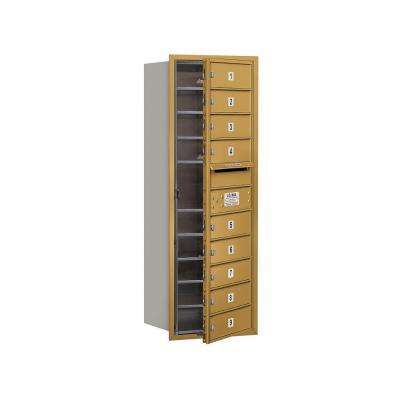 3700 Series 41 in. 11 Door High Unit Gold USPS Front Loading 4C Horizontal Mailbox with 9 MB1 Doors