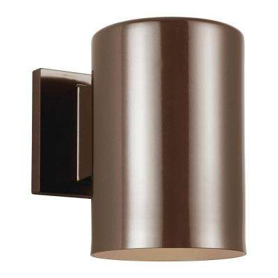 Outdoor Cylinder Collection 1-Light Bronze Outdoor Wall Fixture