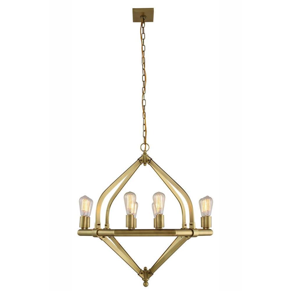 Illumina 8-Light Burnished Brass Pendant Lamp