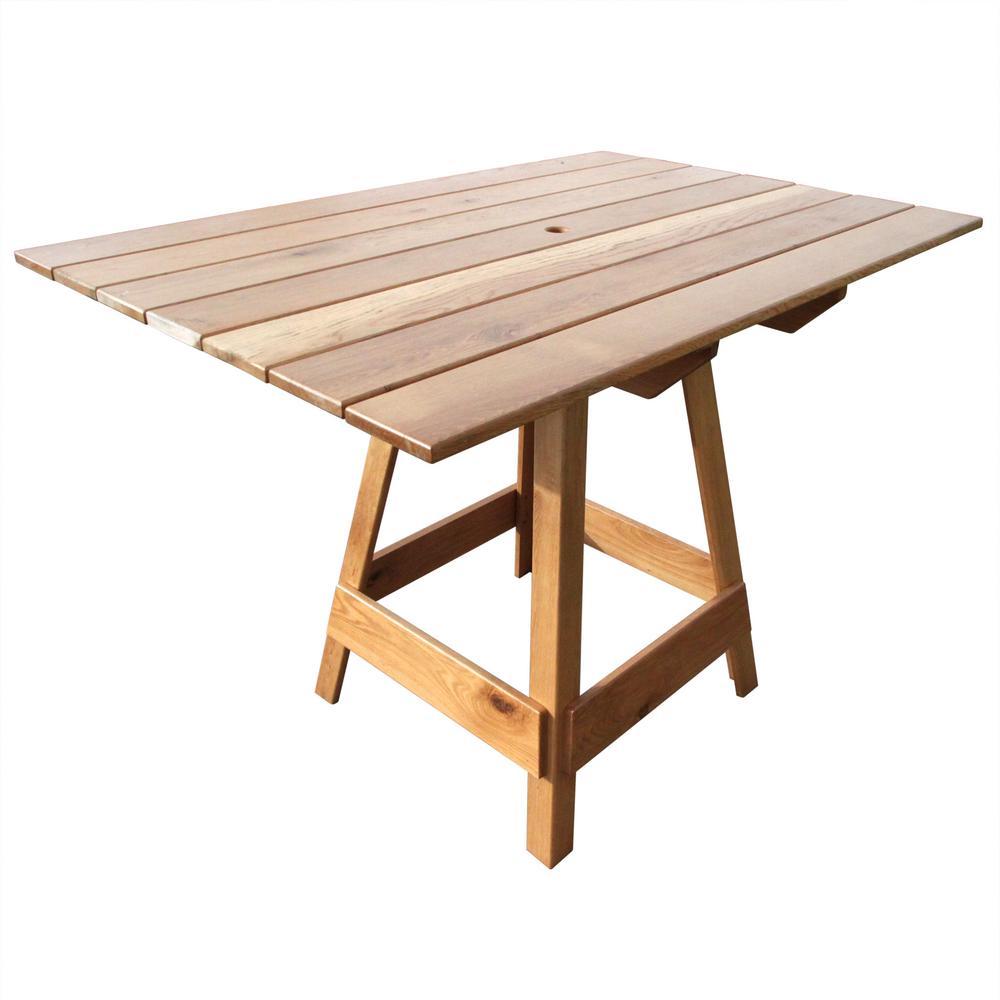 6 Person Picnic Patio Bar Top Table