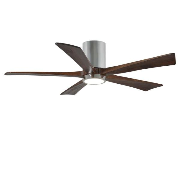 Irene 52 in. LED Indoor/Outdoor Damp Polished Chrome Ceiling Fan with Light
