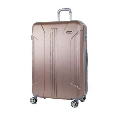 Sierra Rose Gold 26 in. Expandable Hardside Spinner Luggage with TSA Lock