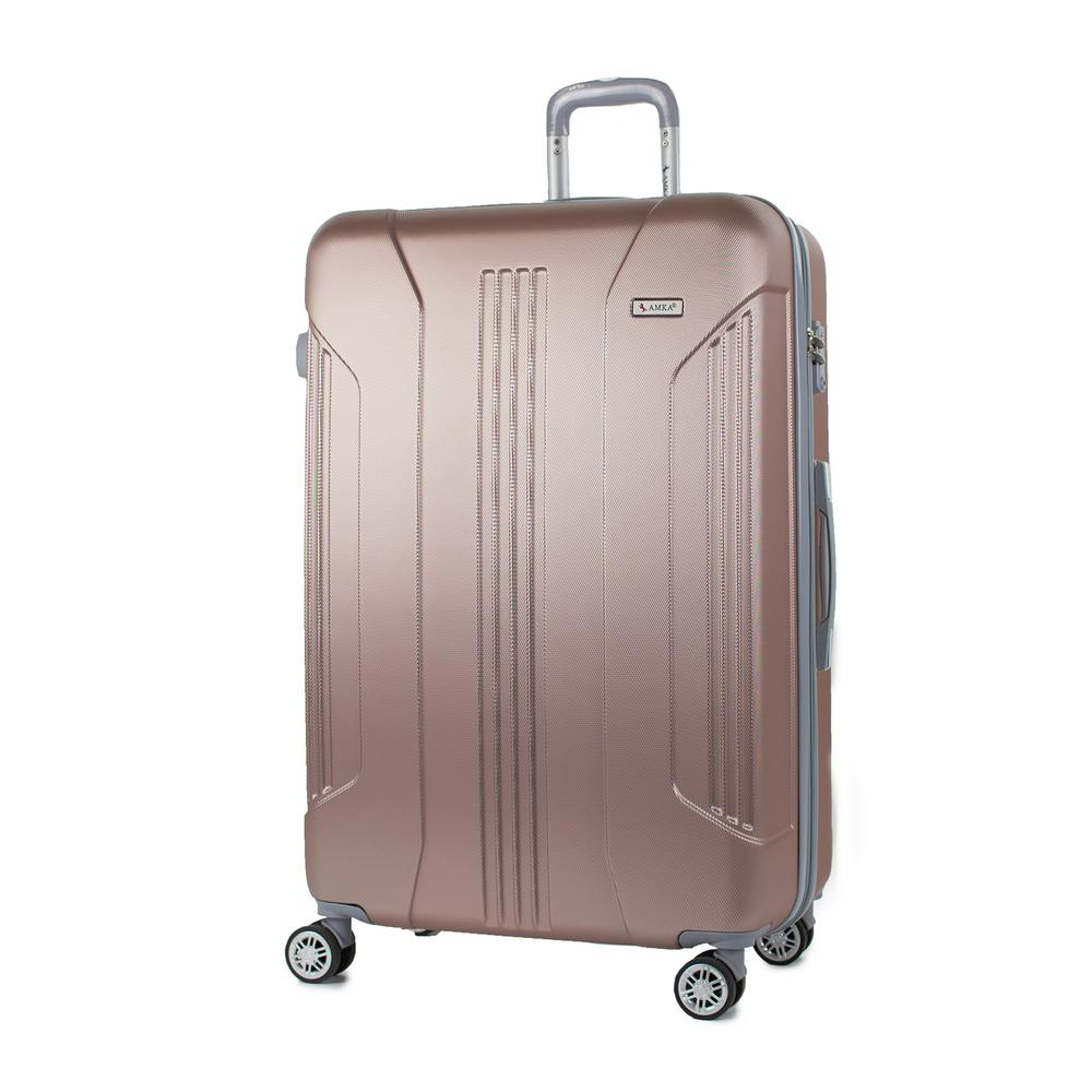 Sierra Rose Gold 26 in. Expandable Hardside Spinner Luggage with TSA
