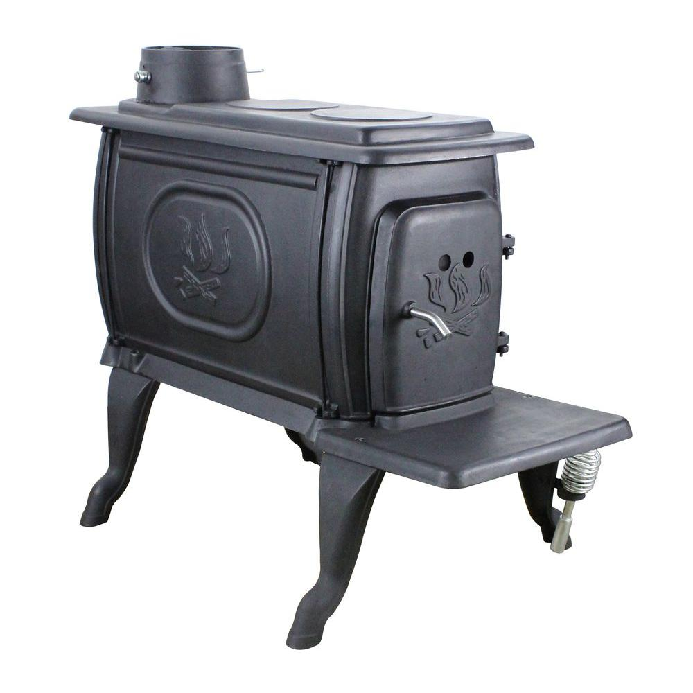 US Stove Logwood 900 sq. Ft. EPA Certified Cast Iron Stove