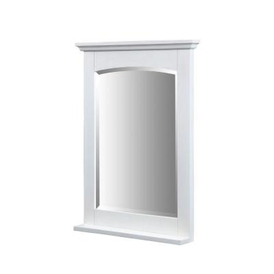 Kent 32 in. x 24 in. Ash Framed Wall Mirror in Whitewash