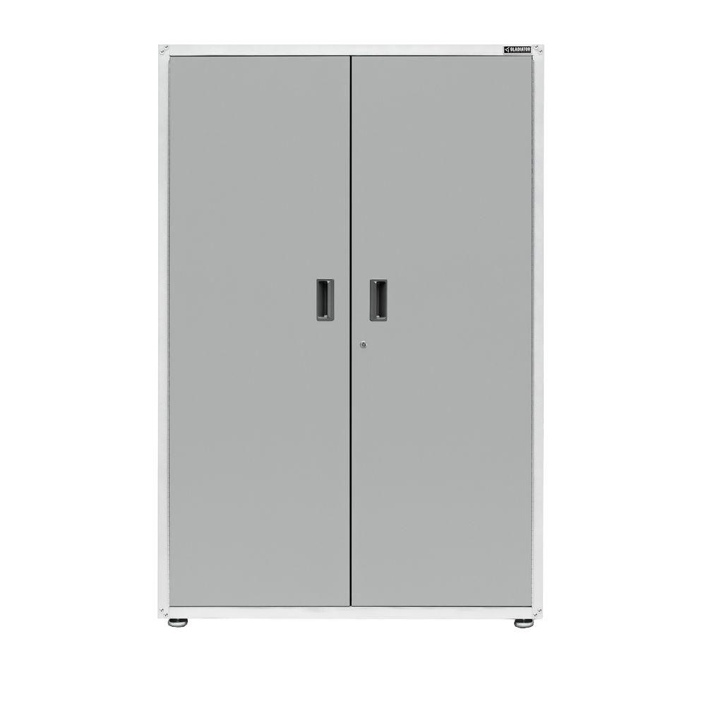 Gladiator Ready To Assemble 72 In. H X 48 In. W X 18 In. D Steel  Freestanding Garage Cabinet In Silver Tread GAJG48KDYG   The Home Depot