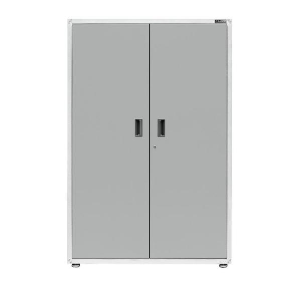 Gladiator Ready to Assemble 72 in. H x 48 in. W x 18 in. D Steel Freestanding Garage Cabinet in White