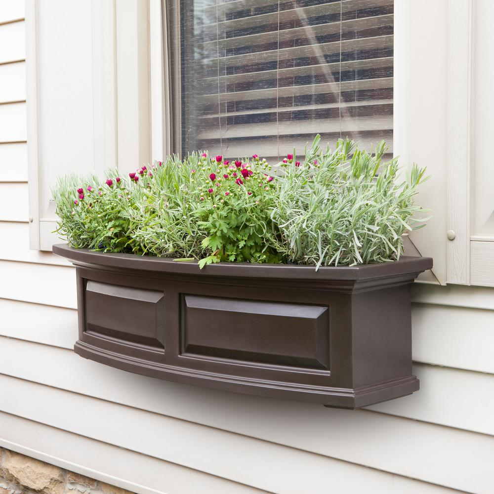 3 ft. Espresso Nantucket Polyethylene Window Box