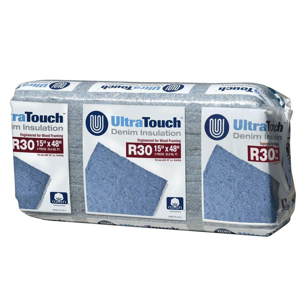 UltraTouch 15 in. x 48 in. R30 Denim Insulation (12-Bags)