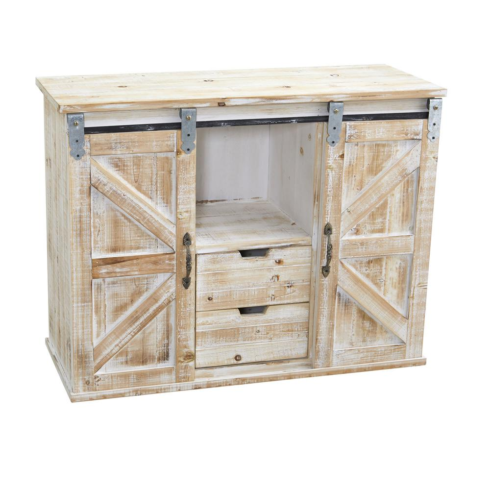Cool 38 In Wide Beige Double Barn Door Console Home Interior And Landscaping Mentranervesignezvosmurscom