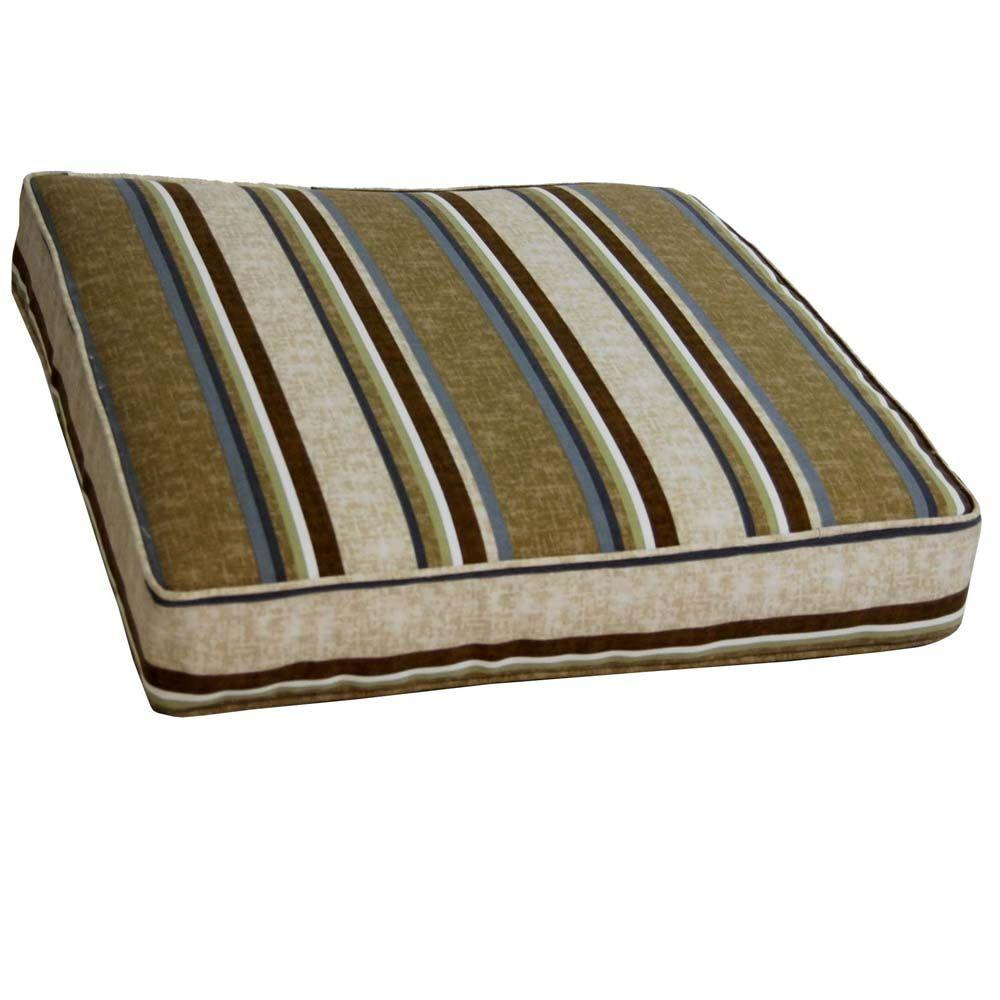 null Cabot Stripe Tobacco Outdoor Floor Cushion-DISCONTINUED