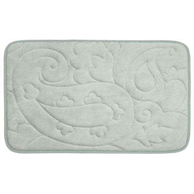 Pelton Light Gray 20 in. x 32 in. Memory Foam Bath Mat