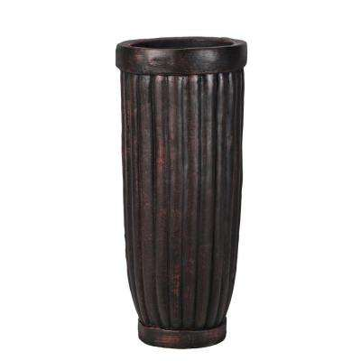 29 in. Tall Fiber-Stone Planter