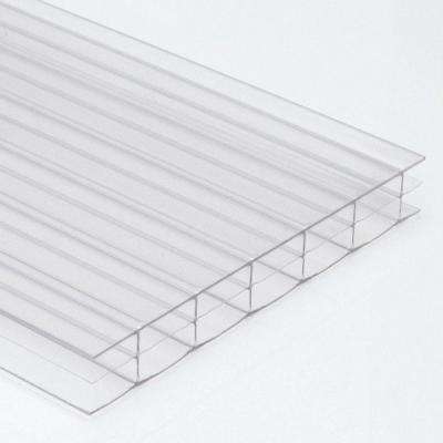 Thermoclear 48 in  x 72 in  x 0 624 in  Clear Multiwall Polycarbonate Sheet