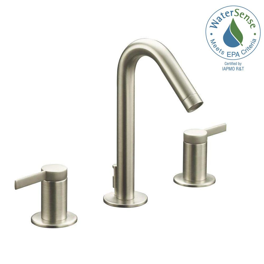 KOHLER Stillness 8 in. Widespread 2-Handle Low-Arc Water-Saving ...