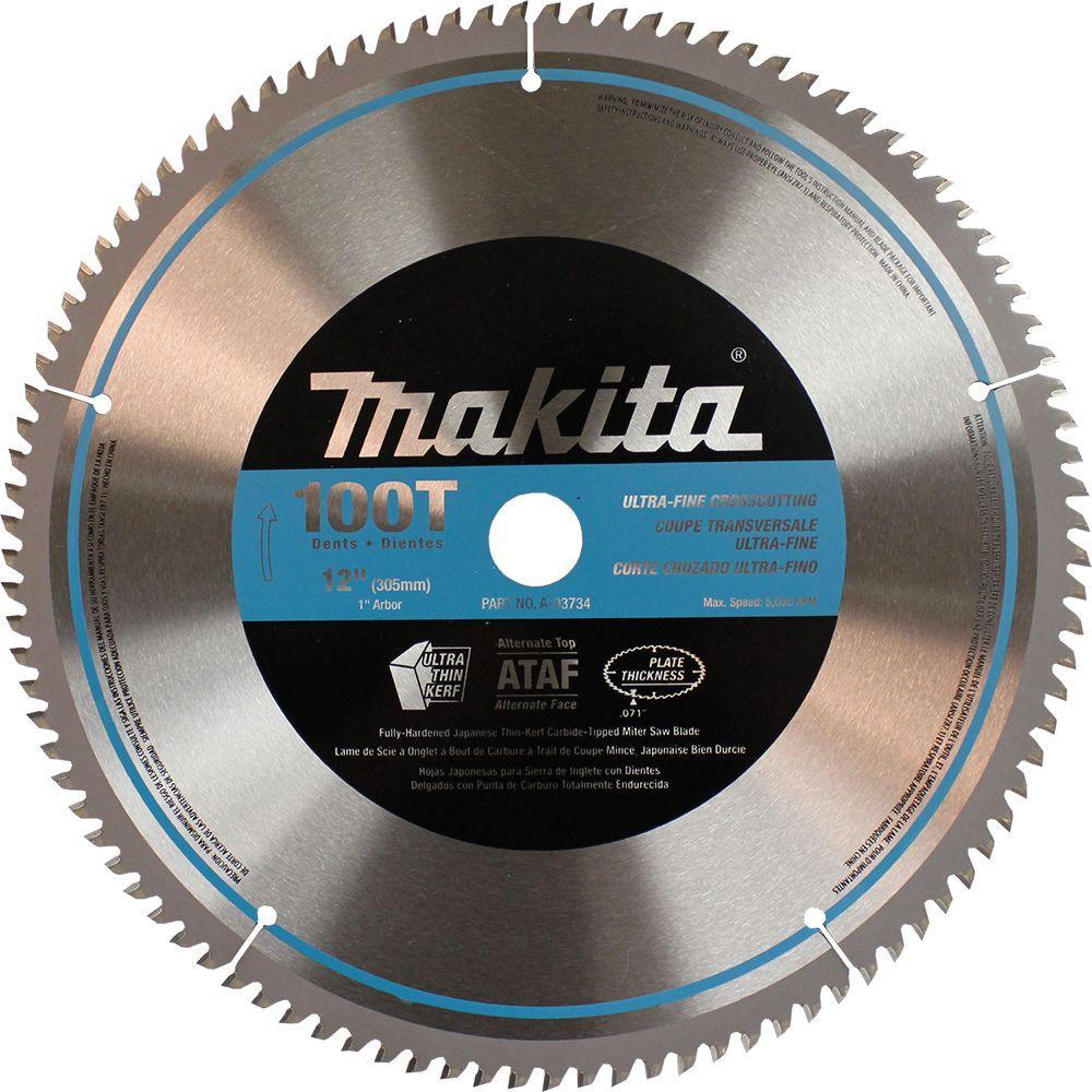 12 in. x 1 in. 100-Teeth Micro-Polished Miter Saw Blade