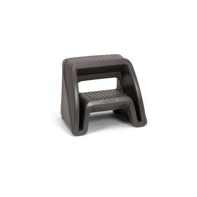 Handy Home Plastic Step Stool in Gray