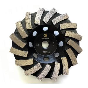 Whirlwind USA 4.5 inch Segmented Diamond Grinding Turbo Cup Wheel for Concrete... by Whirlwind USA