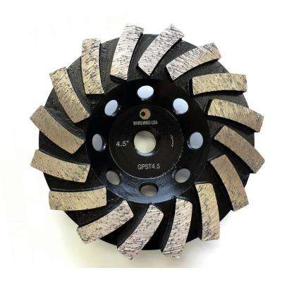 4.5 in. Segmented Diamond Grinding Turbo Cup Wheel for Concrete and Mortar