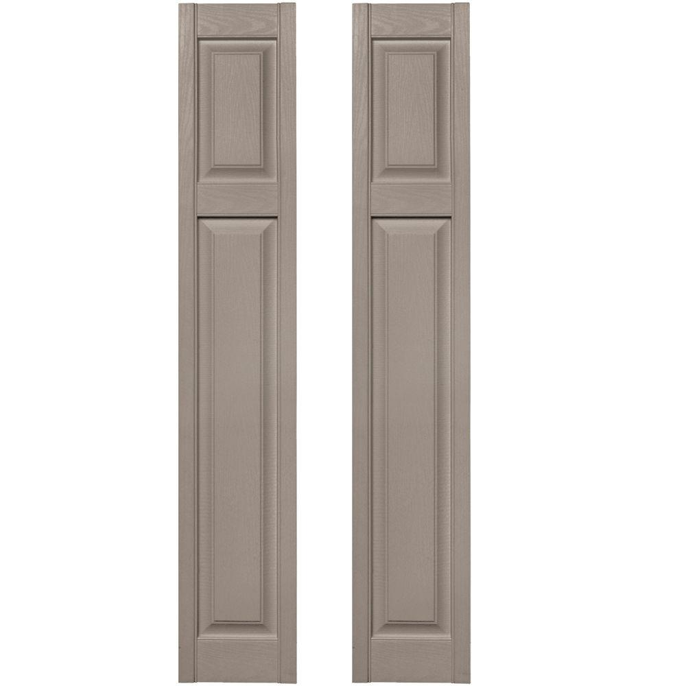 12 in. x 67 in. Cottage Style Raised Panel Vinyl Exterior