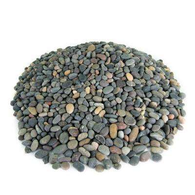 1.67 cu. ft. 3/8 in. Mixed Mexican Beach Pebble Smooth Round Rock for Gardens, Landscapes and Ponds