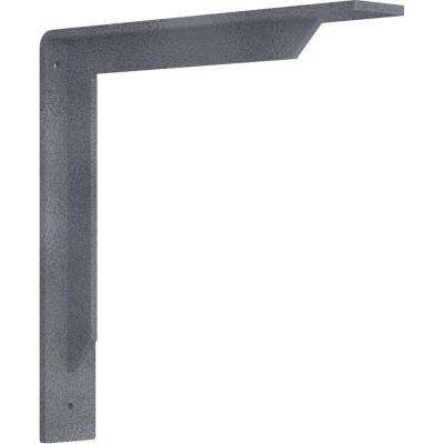 2 in. x 12 in. x 12 in. Steel Hammered Silver Stockport Bracket