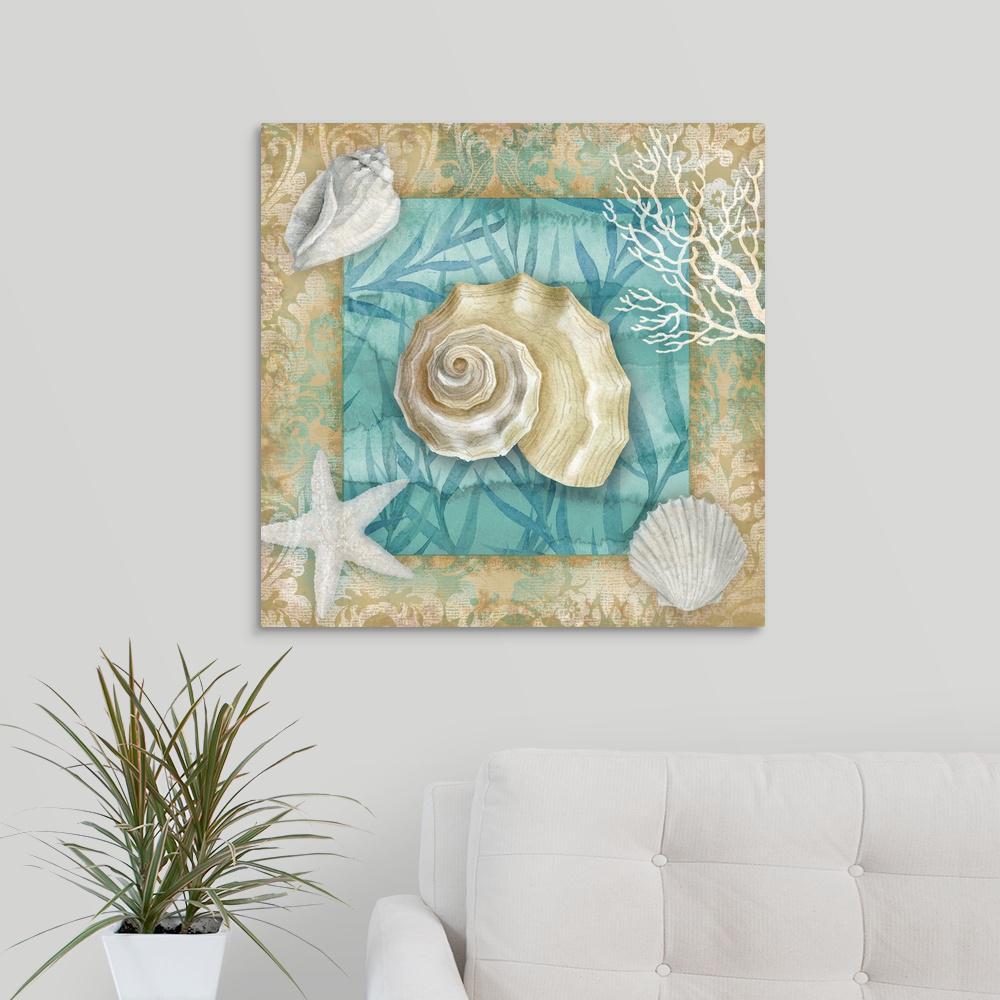 "GreatBigCanvas ""Shell Collection II"" by Conrad Knutsen Canvas Wall Art"