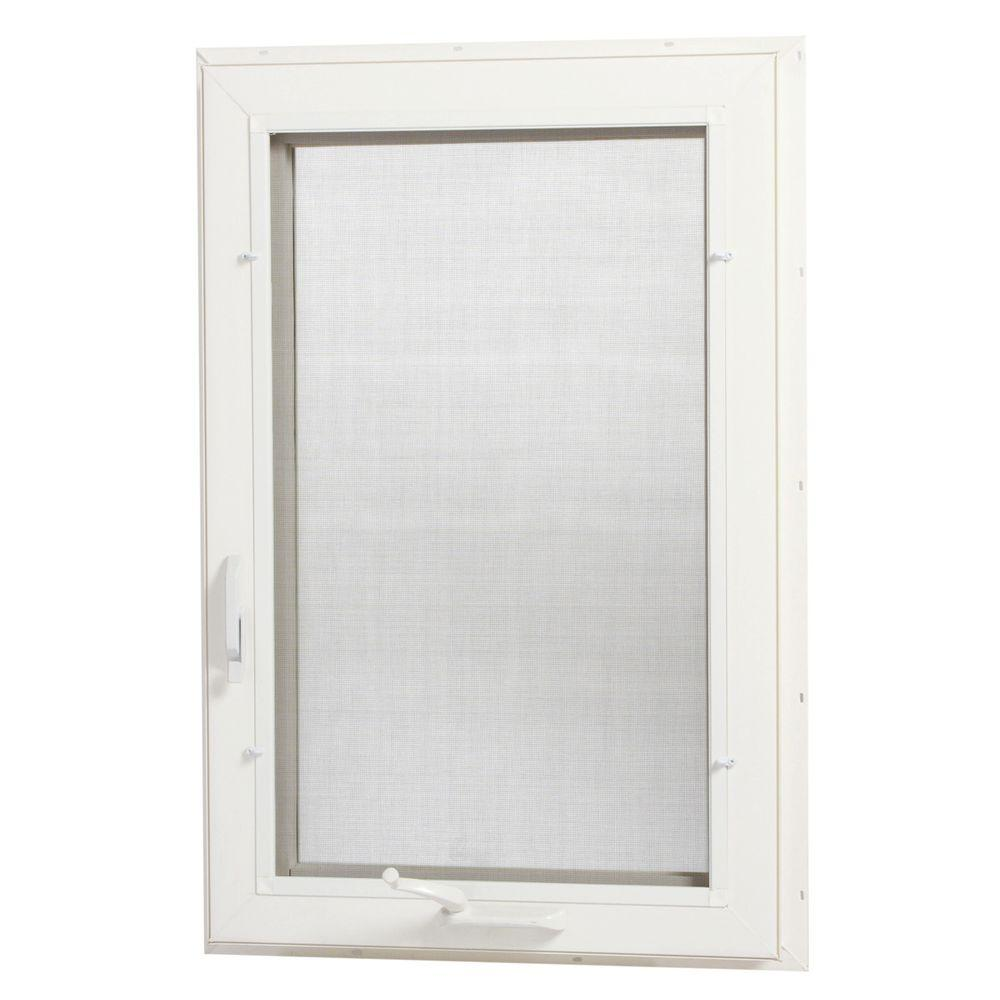 24 in. x 48 in. Right-Hand Vinyl Casement Window with Screen