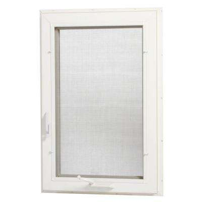 24 in. x 48 in. Right-Hand Vinyl Casement Window with Screen - White