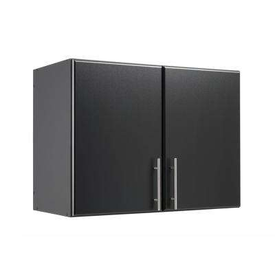 Elite Black 32 in. Stackable Wall Cabinet