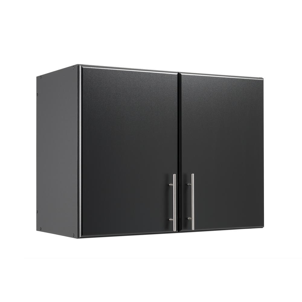 Prepac Elite Black 32 in. Stackable Wall Cabinet