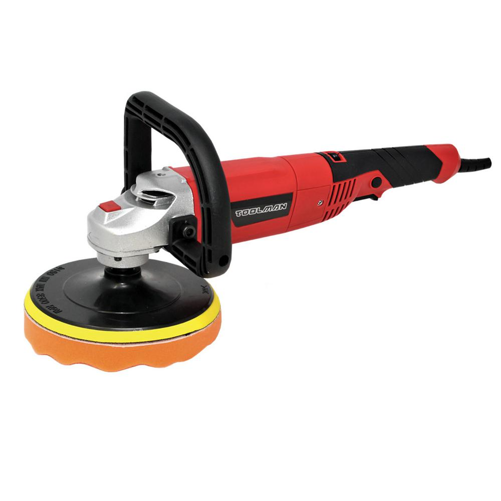 Boyel Living 10 Amp 3500 RPM Corded 7 in. Electric Power Tool 7-Variable Speed Polisher Buffer Sander