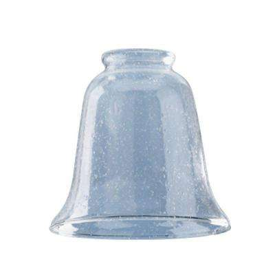 4-5/8 in. Hand-Blown Clear Seeded Bell Shade with 2-1/4 in. Fitter and 5 in. Width