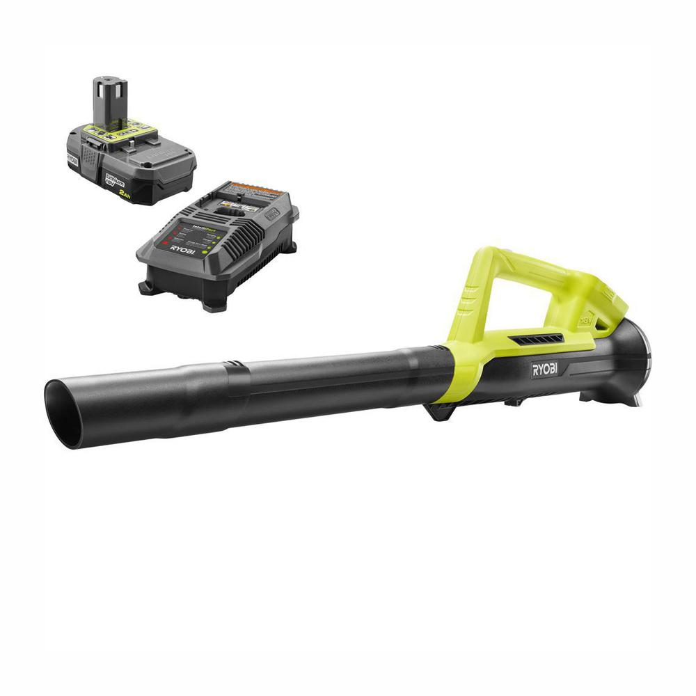 RYOBI Reconditioned ONE+ 90 MPH 200 CFM 18-Volt Lithium-Ion Cordless Leaf Blower - 2.0 Ah Battery and Charger Included