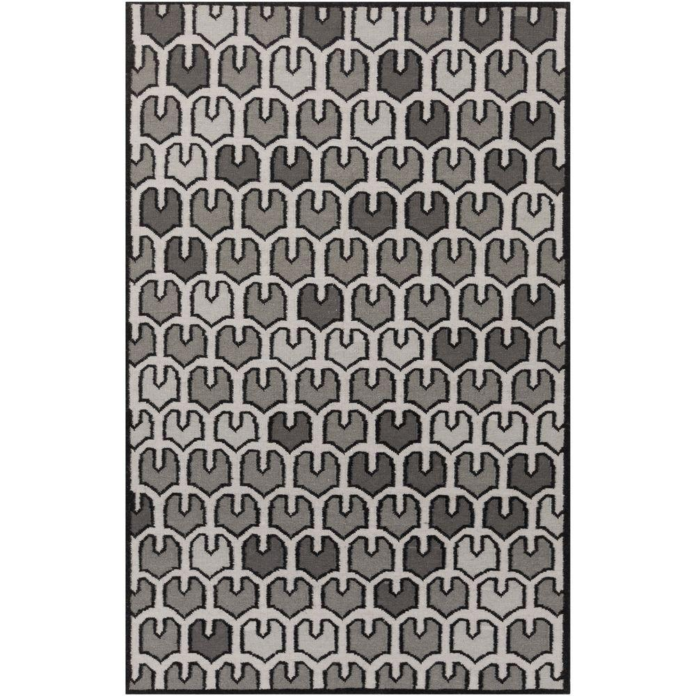 Abizanda Black 2 ft. x 3 ft. Indoor Area Rug