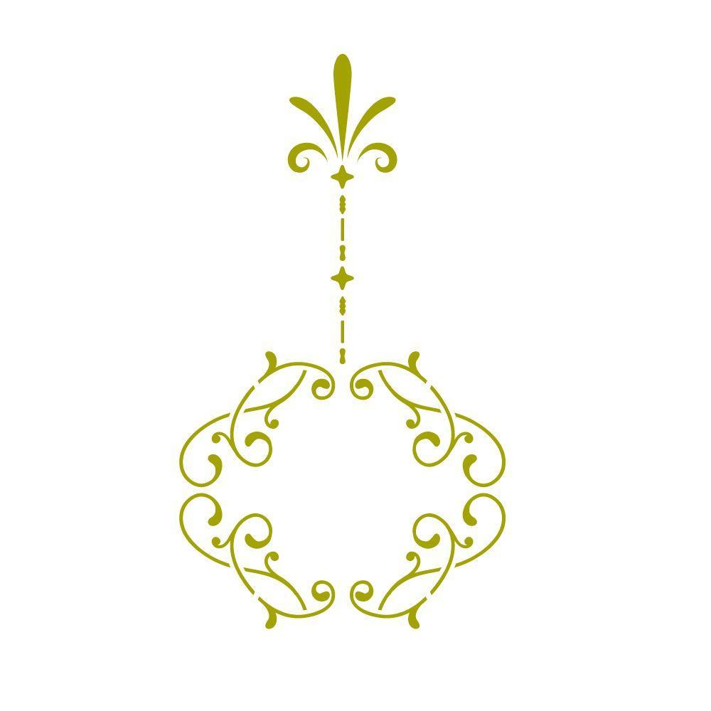 Stencil Ease Victorian Ornament Holiday Stencil