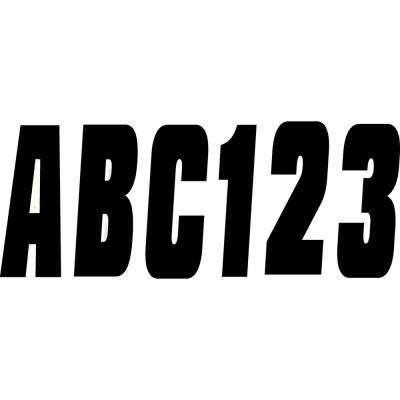 3 in. A-Z, 0-9, Black, 350 Registration Kit, Solid Color Font (Set of 4)