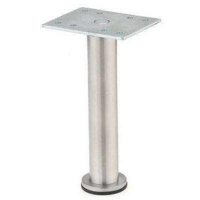 3-15/16 in. Stainless Steel Zinc Round Leg
