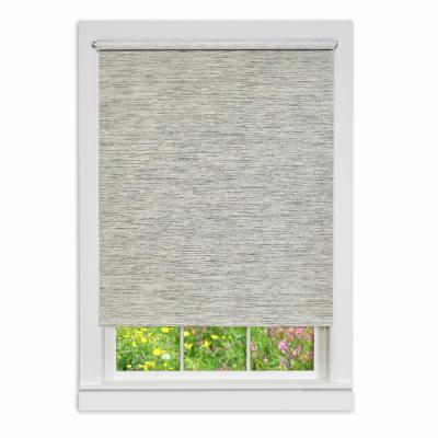 Privacy Heather Gray Cordless Light Filtering Woven Poly/Jute Roller Shade 73 in. W x 72 in. L