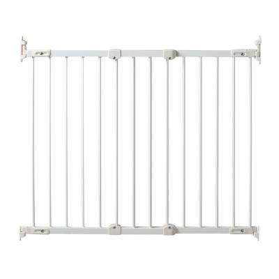 31 in. Angle Mount Safeway Wall Mounted Gate in White Hardware Mount Gate