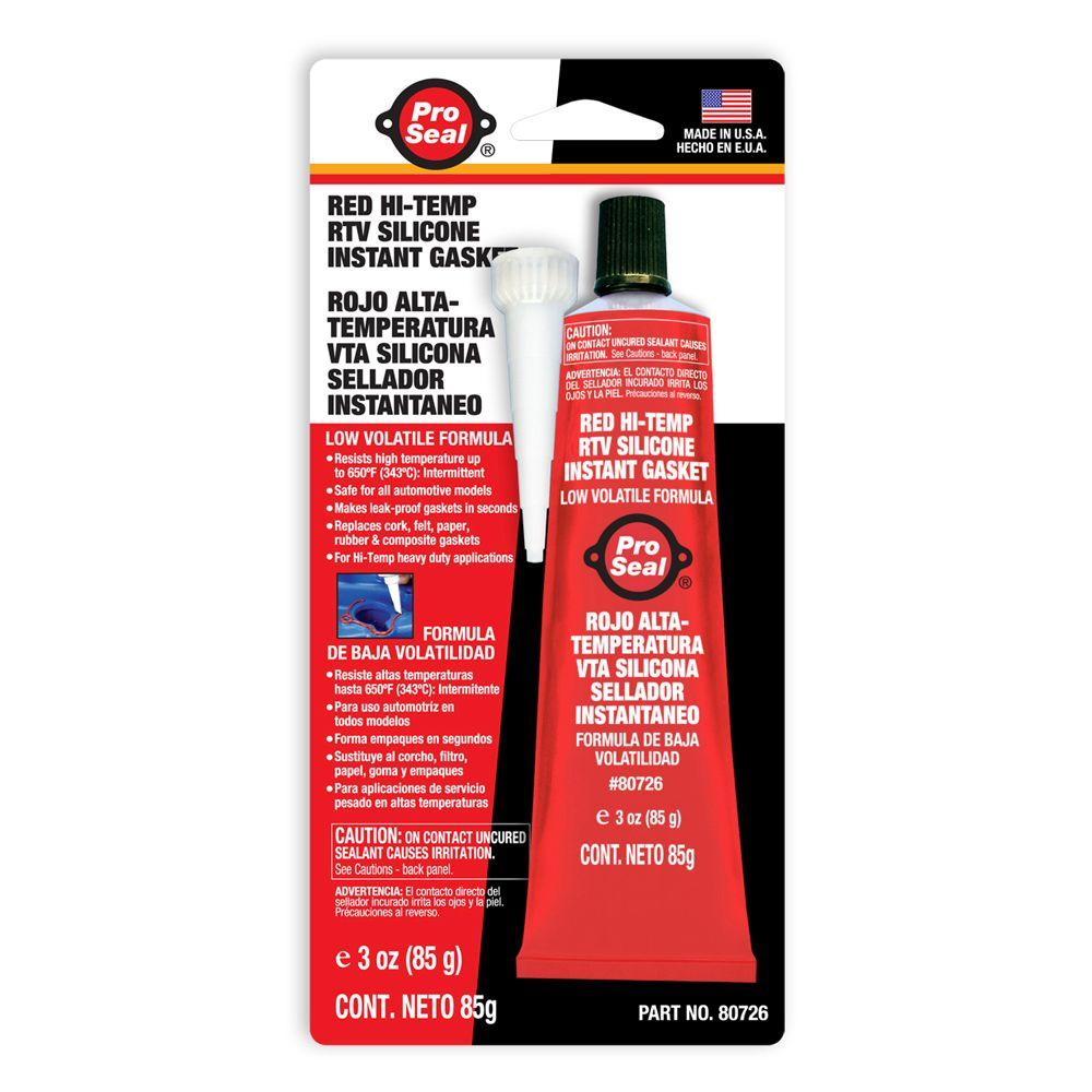 High Temp Sealant >> Proseal 3 Oz Red Hi Temp Rtv Silicone Instant Gasket 12 Pack