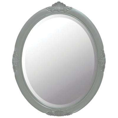 Winslow 30 in. W x 37 in. H Framed Wall Mirror in Antique Grey