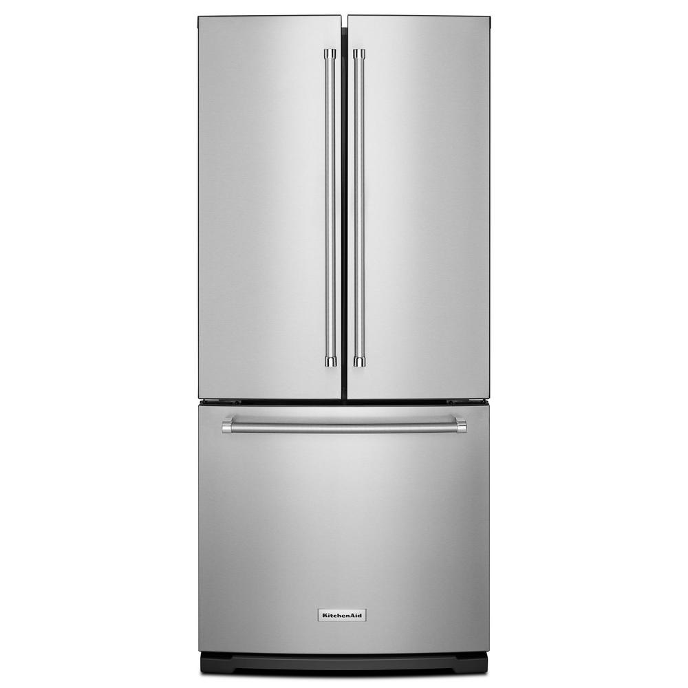 refrigerator 7 5 cu ft. w 19.7 cu. ft. french door refrigerator in stainless steel 7 5 cu ft
