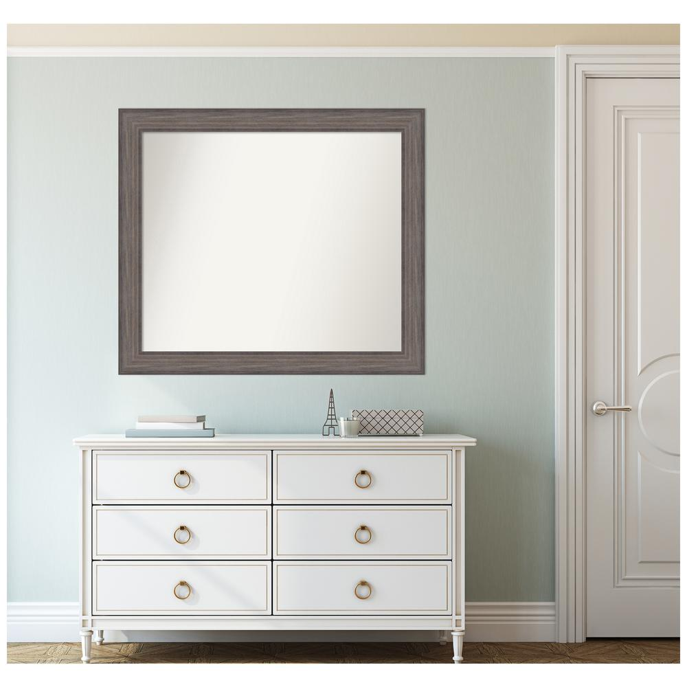 Amanti Art Custom Size 38.25 in. x 33.25 in. Country Barnwood Decorative Wall Mirror was $409.95 now $250.06 (39.0% off)