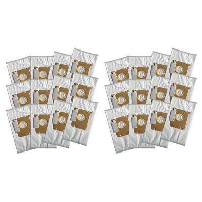 Cloth Bags Replacement for Electrolux Style S and Eureka Style OX Part 61230, 61230A, 61230B, 61230C (24-Pack)
