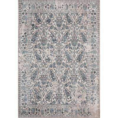 Soignee Cambridge Turquoise 12 ft. 6 in. x 15 ft. 8 in. Oversize Rug