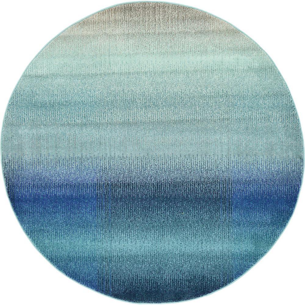 Estrella Azura Blue 6' 0 x 6' 0 Round Rug