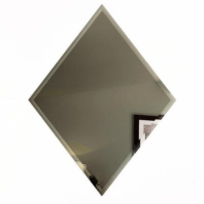 """Reflections Gold Beveled Diamond 6"""" x 8"""" Glass Mirror  Tile (6-Pc/Pack)"""
